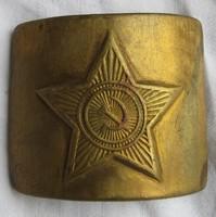 Orosz katonai övcsat, anyaga réz, 5,3 x 8 cm.