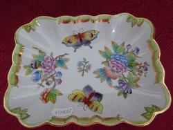 Herendi porcelán, Viktória mintás asztalközép, mérete: 18 x 13,5 x 4 cm.