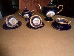 Háromszemélyes kobaltkék Ilmenau kávéskészlet