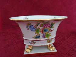 Herendi porcelán, Viktória mintás, négy lábon álló, ovális asztalközép.