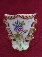 Herendi porcelán, Viktória mintás,  ovális tetejű váza, magassága 11 cm.
