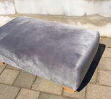 Új bársony puff, dohányzóasztal, ottoman, ülőke 100×60 cm