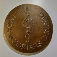 Magyar kortárs zenéért ,bronzplakett