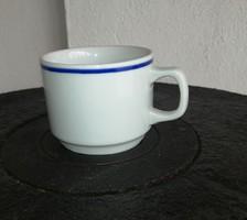 Zsolnay kék csíkos 5 cm magas csésze, mokkás bögre, Gyűjtői szépség