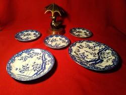 006 5 db  Japán cseresznyevirág mintás  tányér 17, 14 és 3 db 11 cm