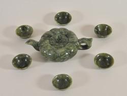Antik kínai nefrit teáskészlet