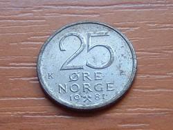 NORVÉGIA 25 ŐRE 1981 ( KEDVEZMÉNY LENT!!)