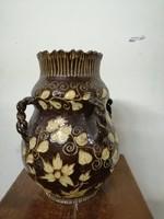 Endrő Margit  kerámia füles  váza   1930-as évek. L-28