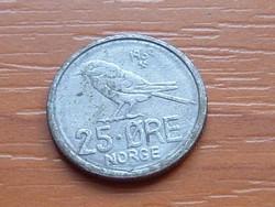 NORVÉGIA 25 ŐRE 1969 MADÁR  ( KEDVEZMÉNY LENT!!)