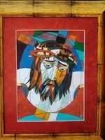Józsa János festőművész Krisztus