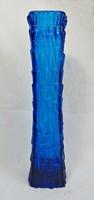 Azúrkék művészi üvegváza