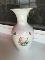 Herendi bordás virágos váza