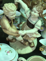 Porcelán táncoló pár figura