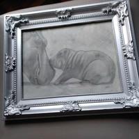 Festmény 34x29 cm