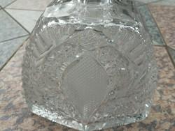Kristály dugós palack, extra, luxus,likörnek, whiskey, csodálatos aprólékos csiszolással  ital.