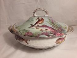 Vintage VICTORIA AUSTRIA porcelán leveses tál + fedő