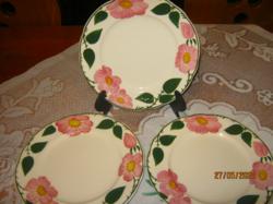 Villeroy & Boch vadrózsás tányérok