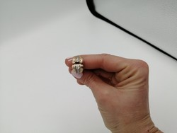 Antik arany gyűrű gyémánt köves berakással
