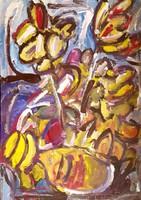 Németh Miklós - 100 x 70 cm olaj, karton