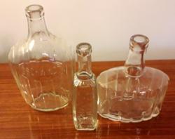 Régi likőrös palack Gschwindt Likőrgyára Budapest üveg 3 db