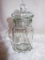 Üveg - régi - vastag üveg fűszertartó - 14 x 7 cm - hibátlan