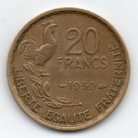 Franciaország 20 francia Frank, 1950