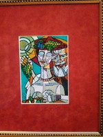 Józsa János festőművész Bacchus és kedvese