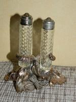 Arthurt Cour elefántos ezüstözött fűszertartó.