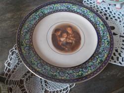 Szépséges Alt wien kicsi tányér a szent családról