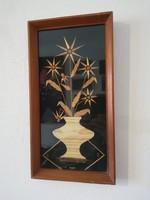 Retro szalmakép falikép