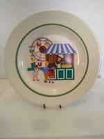 Régi szép mese jelenetes GDR jelzett porcelán tányér