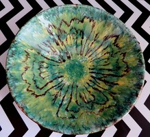 Bodrogkeresztúri  retro kerámia tál 23 cm