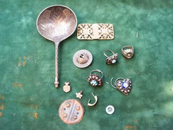 Filigrán kanál csat gomb mexicoi ezüst? dísz