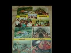 Képeslapok-2Db- Hordó csárda-reklám