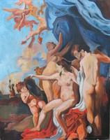 Európai festő: Johann Liss - Vénusz a tükör előtt című kép újragondolása