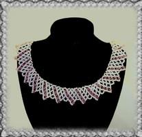 Esküvői, koszorúslány gyöngy nyaklánc SL-GY08-3