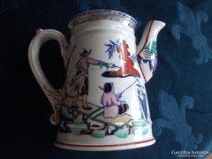 Sarreguemines majolika antik kézzel festett kiöntő