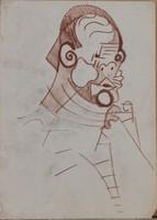 Fontos István, magyar expresszionista művész, portré, 1920