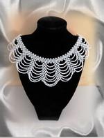 Esküvői gyöngy nyaklánc SL-GY09-1-40