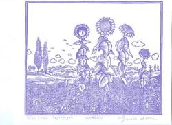 Gross Arnold -  Napraforgók 20 x 23 cm fakszimile