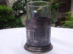 Szovjet ezüst  teás edény