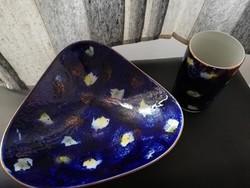 Ritka Wallendorf Echt Kobalt Porcelán szett