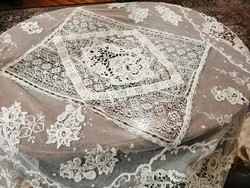 Csódálatos régi nagyméretű necc csipketeritő Múzeumi darab