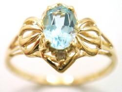 Valódi 9K arany gyűrű gyémánttal