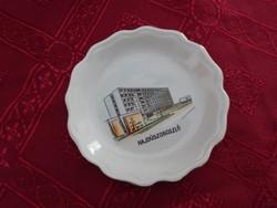 Aquincum porcelán,Hajdúszoboszló képpel  mini tálka, átmérője: 9 cm.