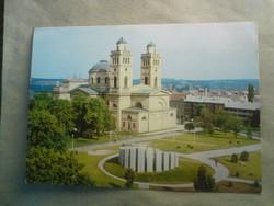 Régi postatiszta képeslap - Eger Bazilika