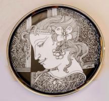 Szász Endre (Hollóházi) porcelán falitányér