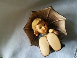Goebel porcelán esernyős kislány