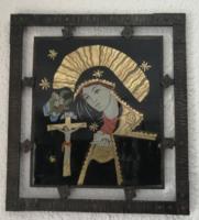 Szentkép kovácsoltvas keretben