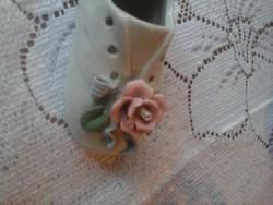 Porcelán rózsás cipő 10 cm